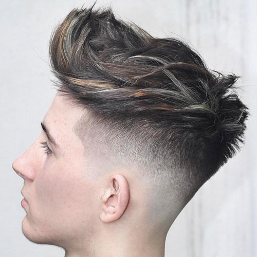 skin fade quiff , messy quiff , pompadour and quiff , undercut , textured quiff , how to style a quiff