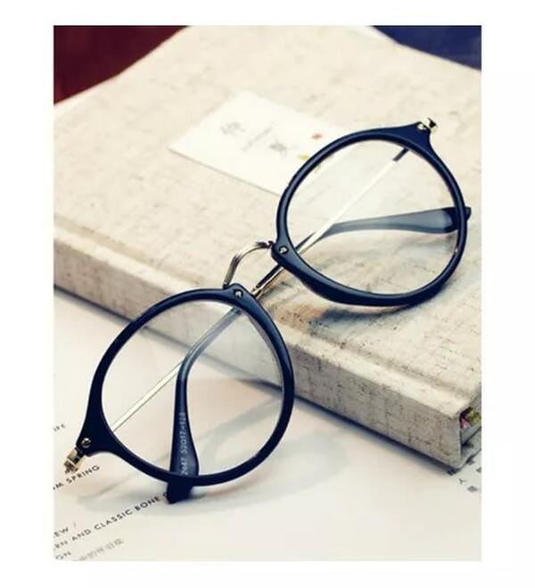 Round Clear Sunglasses With Golden Frame